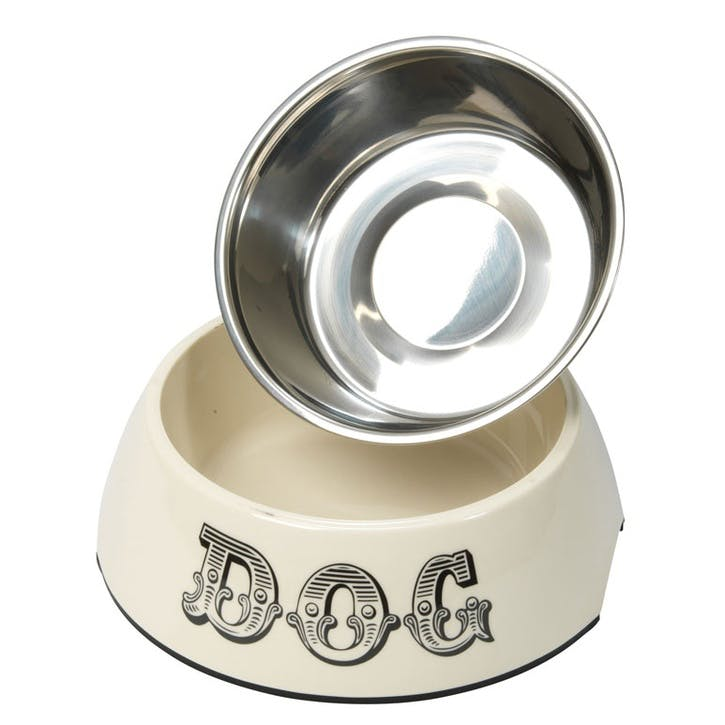 House of Paws Country Kitchen Dog Bowl - Large; Cream