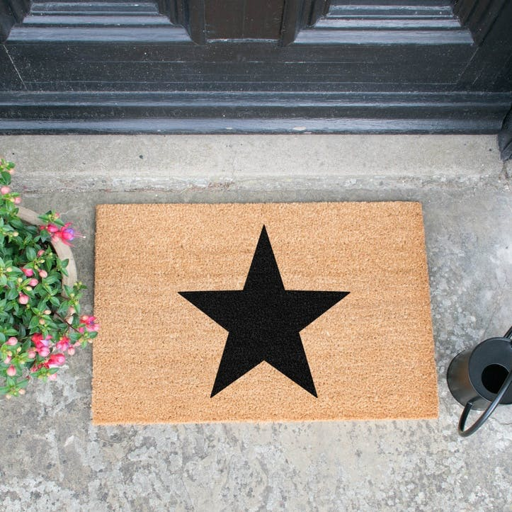 Star Doormat, Black
