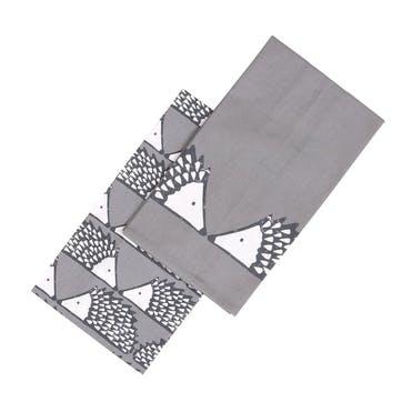 Spike Tea Towels, Set of 2, Grey