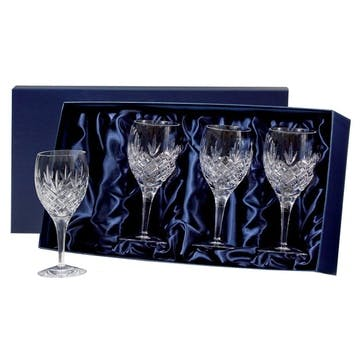 Edinburgh Small Crystal Wine Glasses, Set of 4