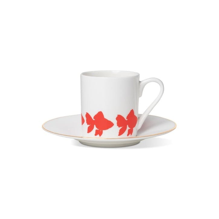 Goldfish Espresso Cup and Saucer