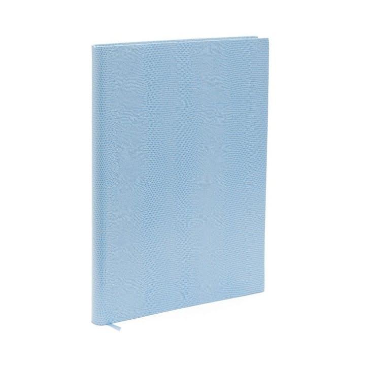 Jubilee Faux-Leather Medium Plain Journal, Sky Blue