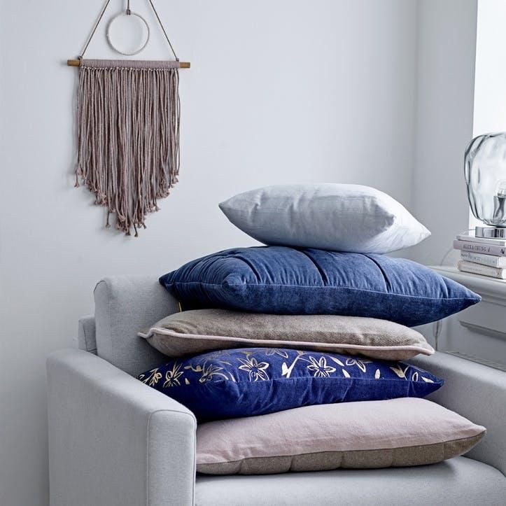 Circles Cushion, Dark Blue