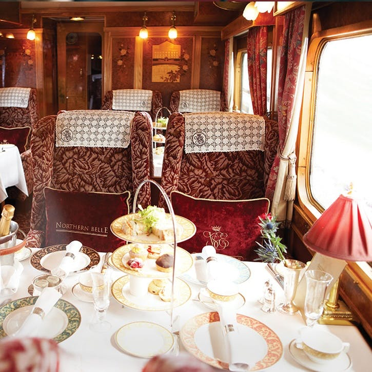 Afternoon Tea for Two on the Northern Belle Luxury Train