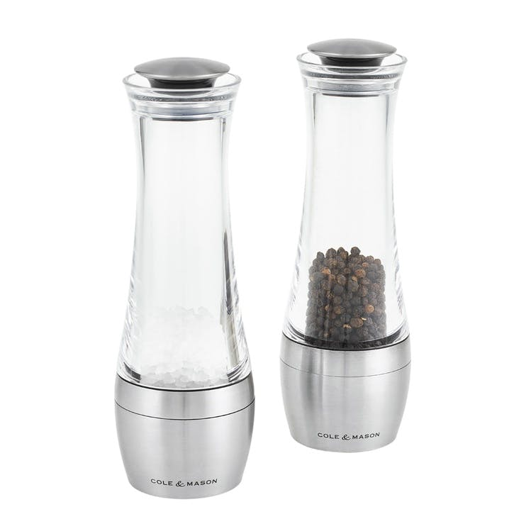 Amesbury Acrylic and Stainless Steel Salt & Pepper Mill Gift Set