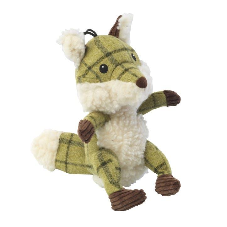 Tweed Plush Fox Dog Toy