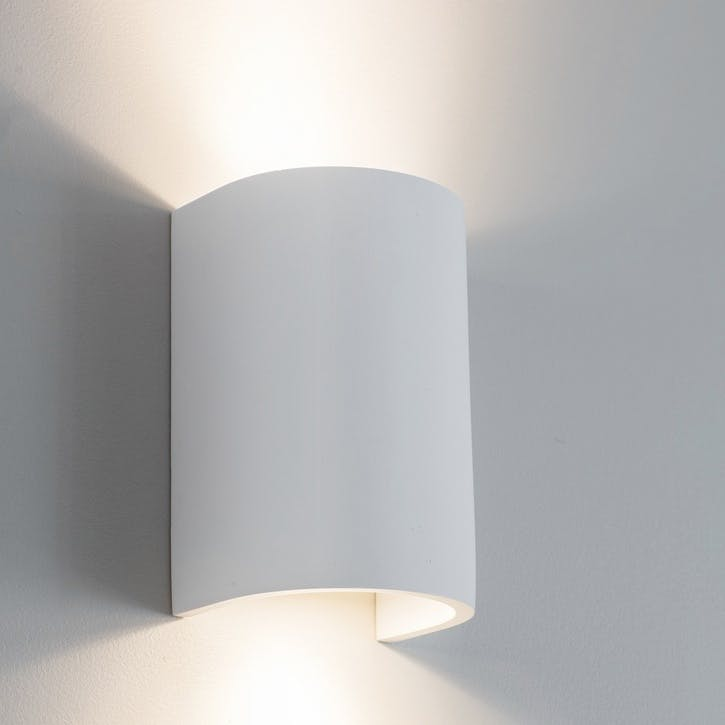 Stanton Double Wall Light, Plaster
