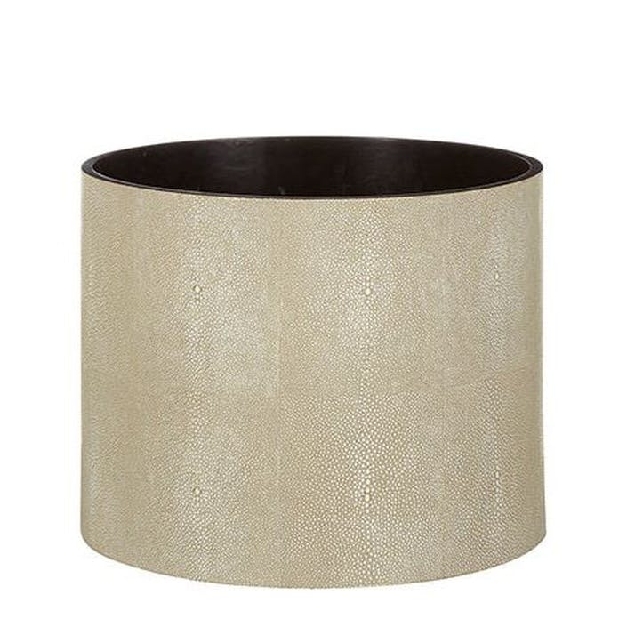 Faux Shagreen Planter, Taupe