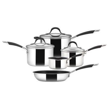 Momentum Stainless Steel 5 Piece Pan Set