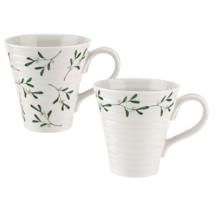 Mistletoe Mugs, 12oz, Set of 2