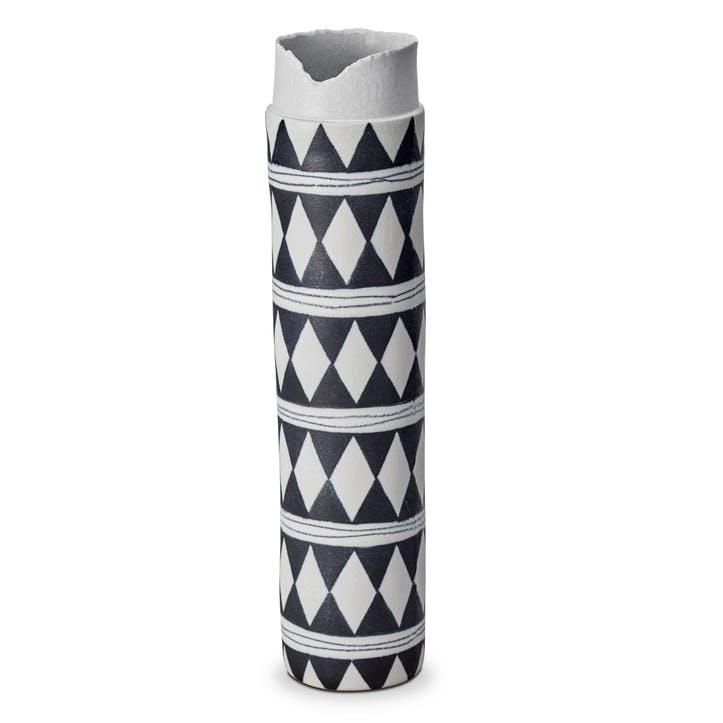 Tribal Diamond Collar Vase