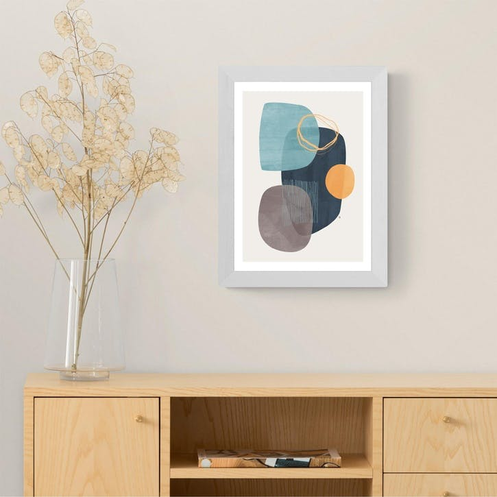 Tracie Andrews, Cyra, Framed, Art Print, H48 x W37 x D2cm, White