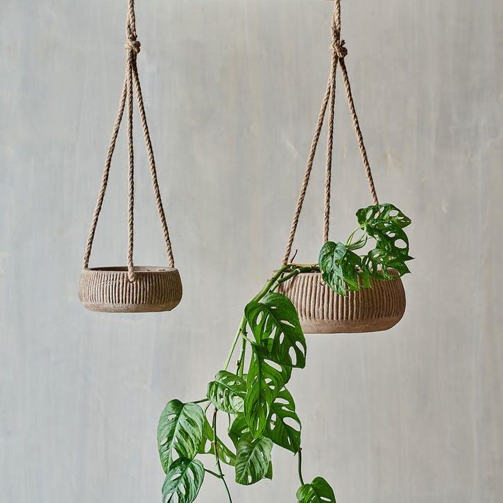 Wampu, Hanging Planter, Small, Terracotta
