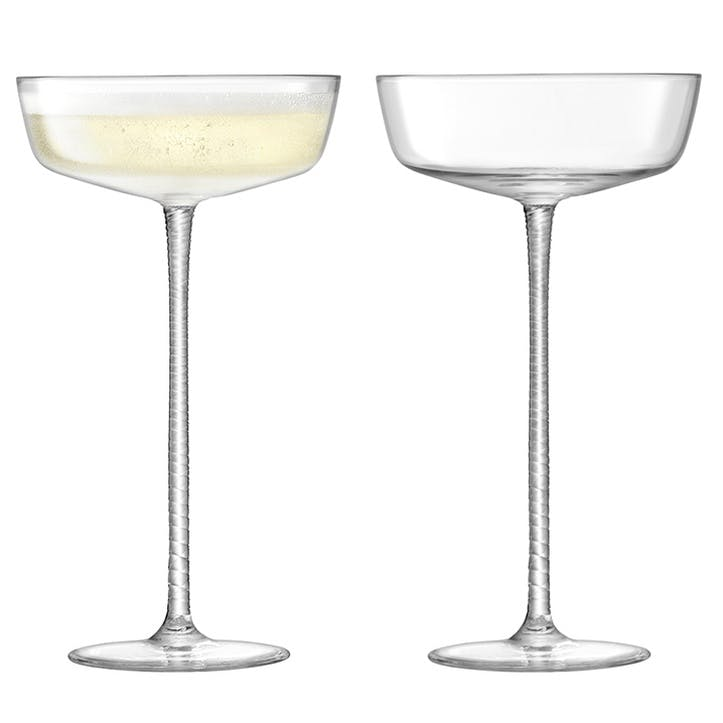 Champagne Theatre Saucer, Set of 2