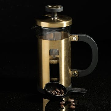 Edited Pisa Cafetiere Brushed Gold, 3 Cup