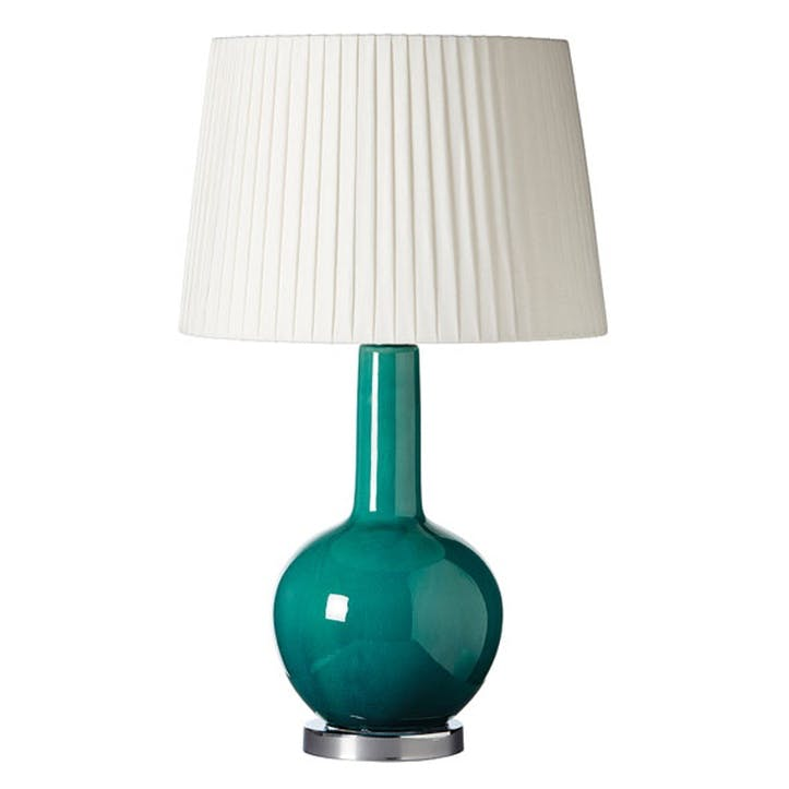 Grenadilla Table Lamp, Aruba Blue