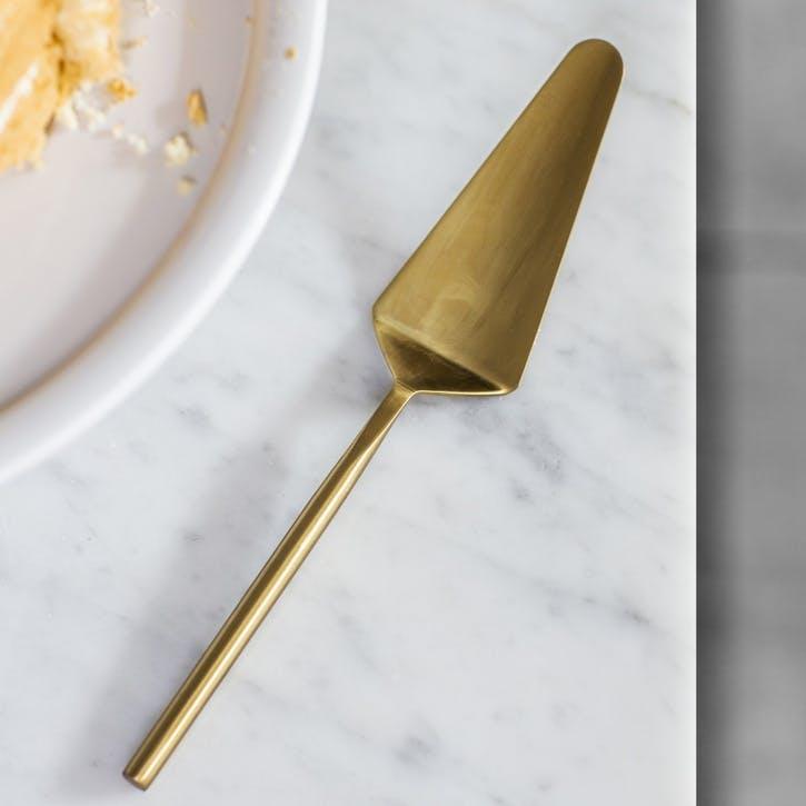 Brompton Cake Slice, Antique Brass Finish
