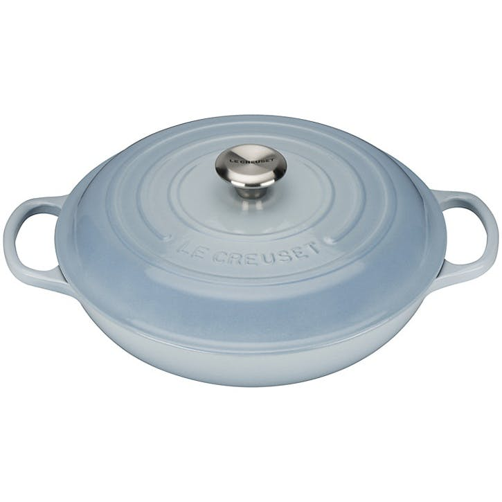 Cast Iron Shallow Casserole - 30cm; Coastal Blue