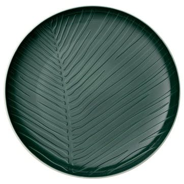 It's My Match Leaf Dinner Plate, Green
