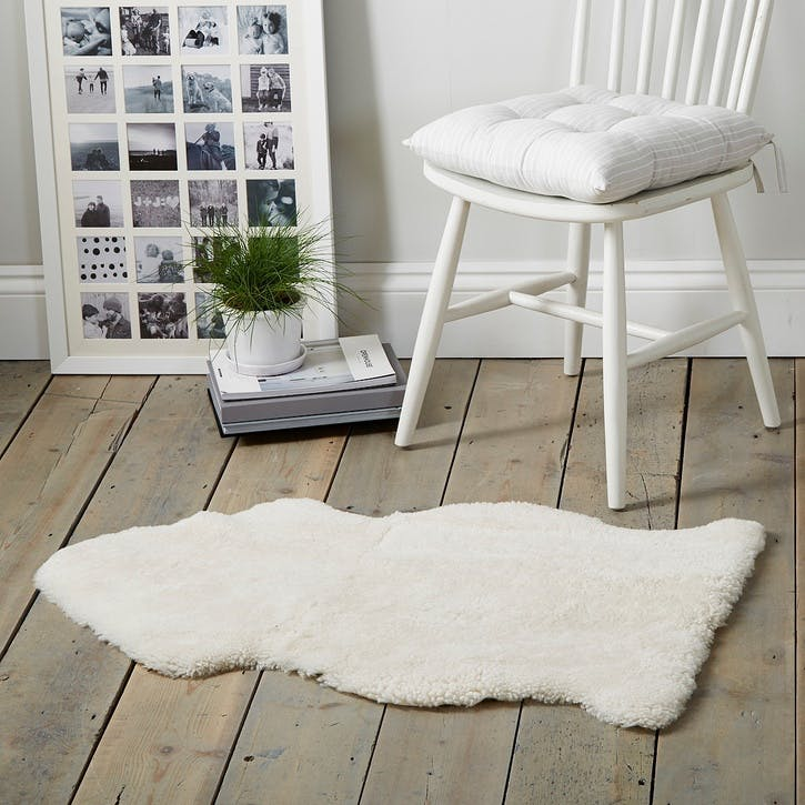 Single Sheepskin Rug, Pearl