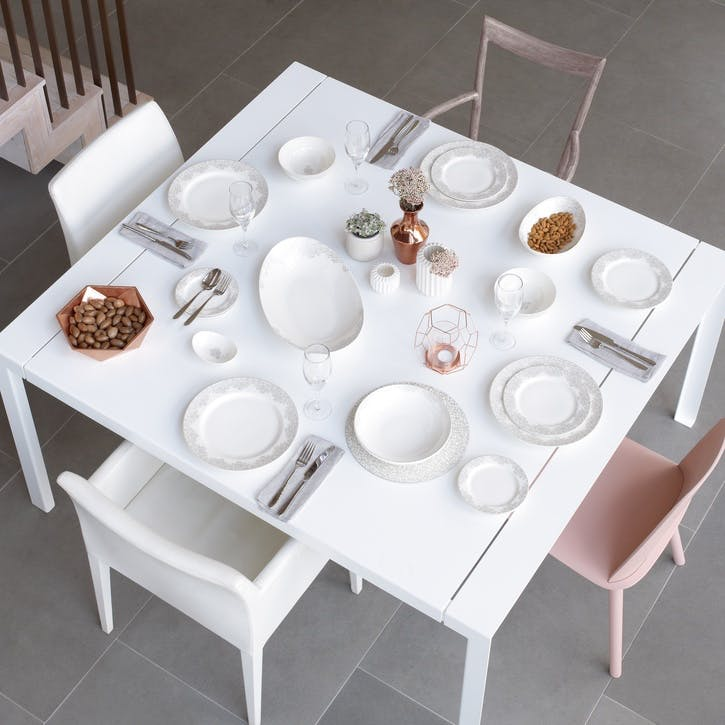 Filigree Silver 16 Piece Dinner Set