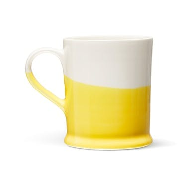 Colour Dip, Mug, Yellow