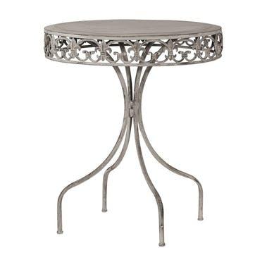 Grey-Wash Round Metal Table