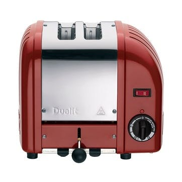 Classic Vario 2 Slot Toaster, Red