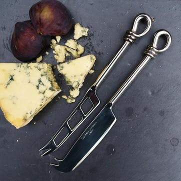 Polished Knot Traditional & Soft Cheese Knife Set