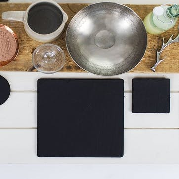 Square Slate Placemat, Set of 2