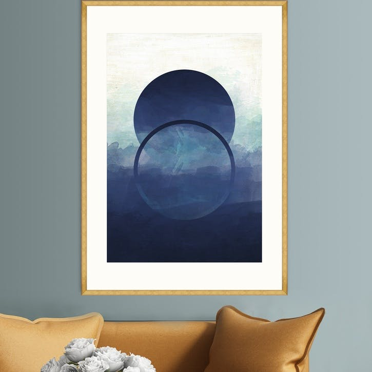 Abstract Ombre I Gold Framed Print, 70 x 100cm