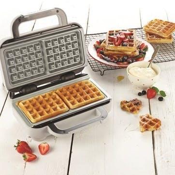 Duraceramic Two Portion Waffle Maker