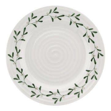 Mistletoe Side Plates, Set of 4
