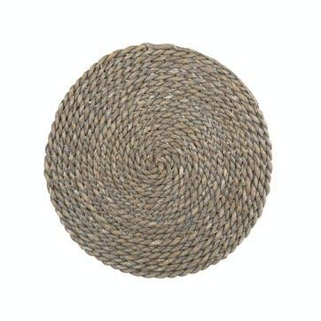 Naturals Greywash Round Serve Mat
