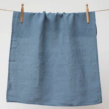 Linen Tea Towel, Parisian Blue