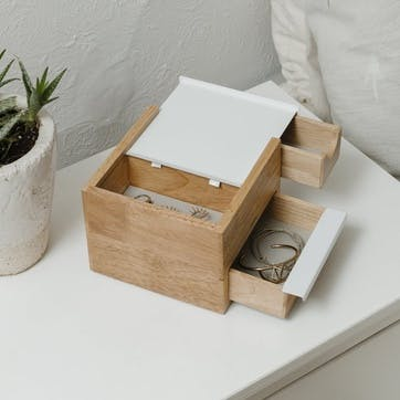 Stowit Jewellry Box, Mini, White Natural