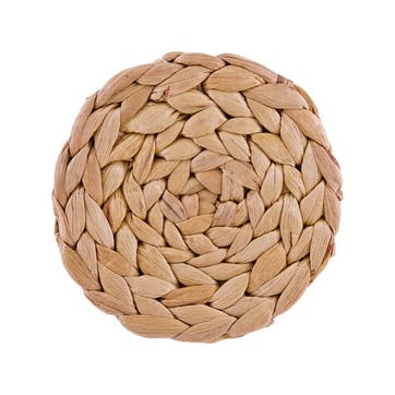 Naturals Water Hyacinth Round Woven Coasters, Set of 4