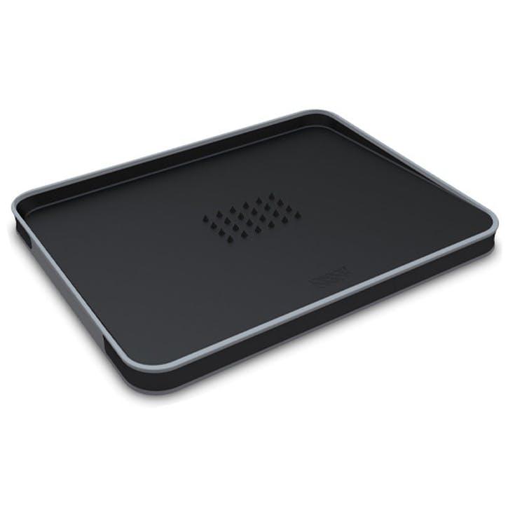 Cut&Carve Plus Non Slip Chopping Board, Large, Black