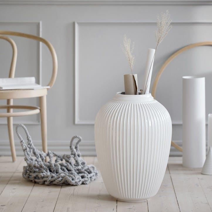Hammershøi Floor Vase, White