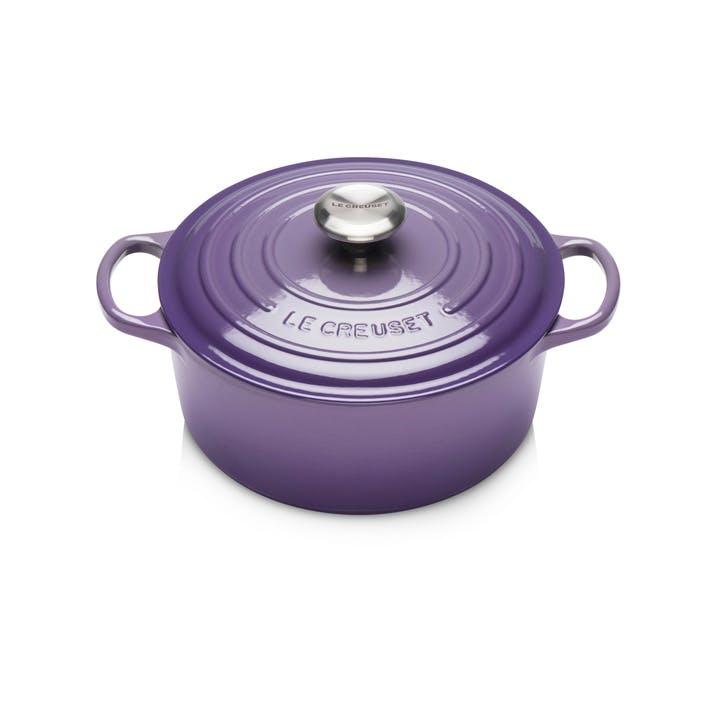 Cast Iron Round Casserole - 24cm; Ultra Violet