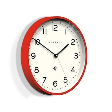 Echo - Number 3, Wall Clock, W37cm x D5cm x H37cm, Red