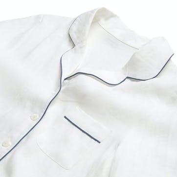 White Linen Pyjama Set, Small