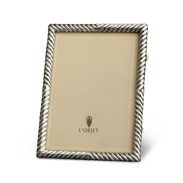 Deco Twist Platinum Frame, 18 x 13 cm