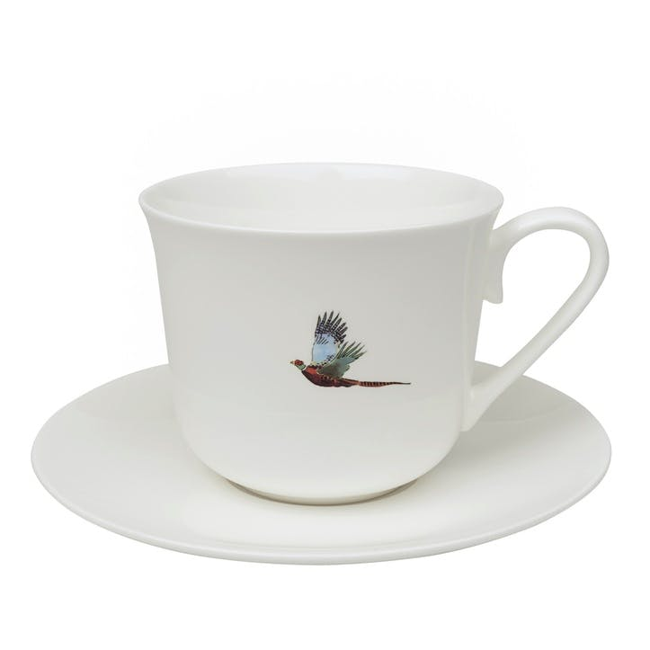 'Pheasant' Tea Cup & Saucer - Small