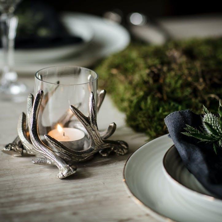 Antler Tea Light Holder - Small