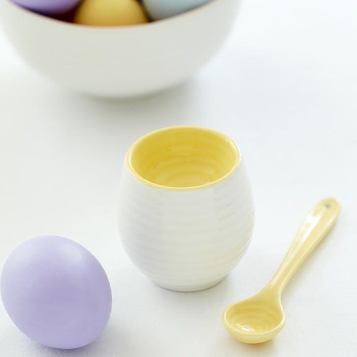 Colour Pop Egg Cup & Spoon; Sunshine