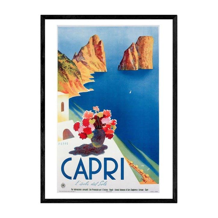 East End Prints, Capri, Framed Art Print, H61 x W44 x D2cm, Black