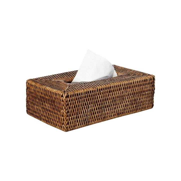 Rattan Tissue Box Cover, Handwoven