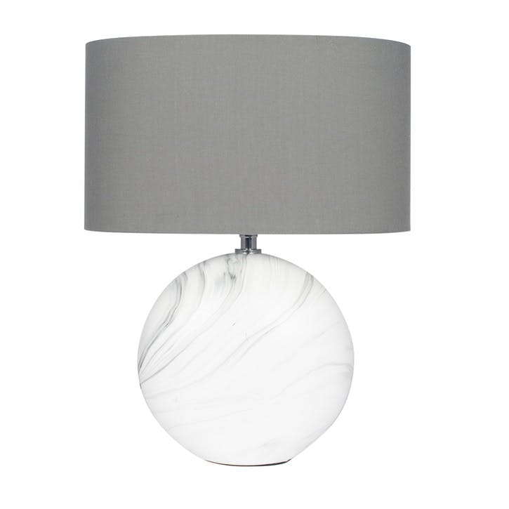 Crestola Marble Effect Ceramic Table Lamp - Medium