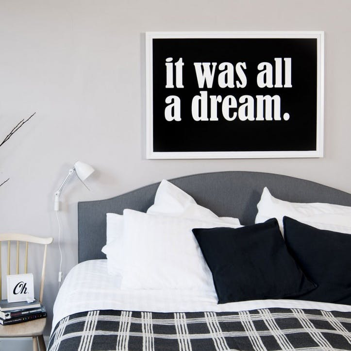 'It Was All A Dream' Print - 50 x 70cm